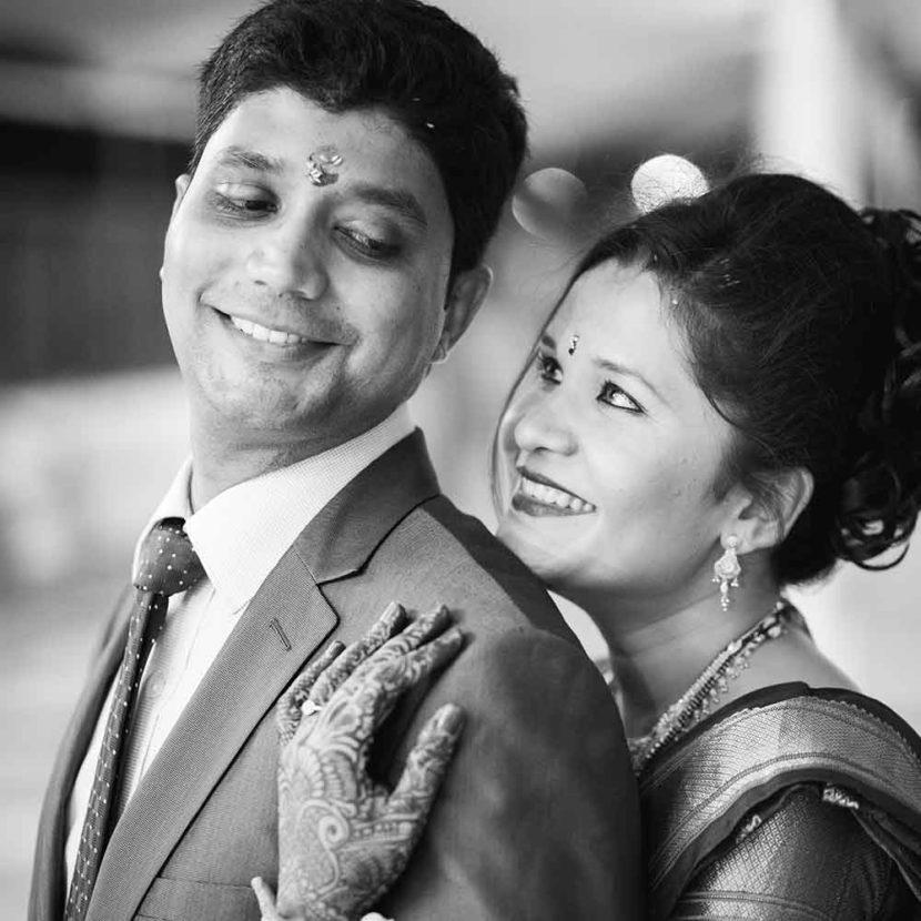 wedding evening photographer in pune nishikant and tanvi's wedding marathi and north india
