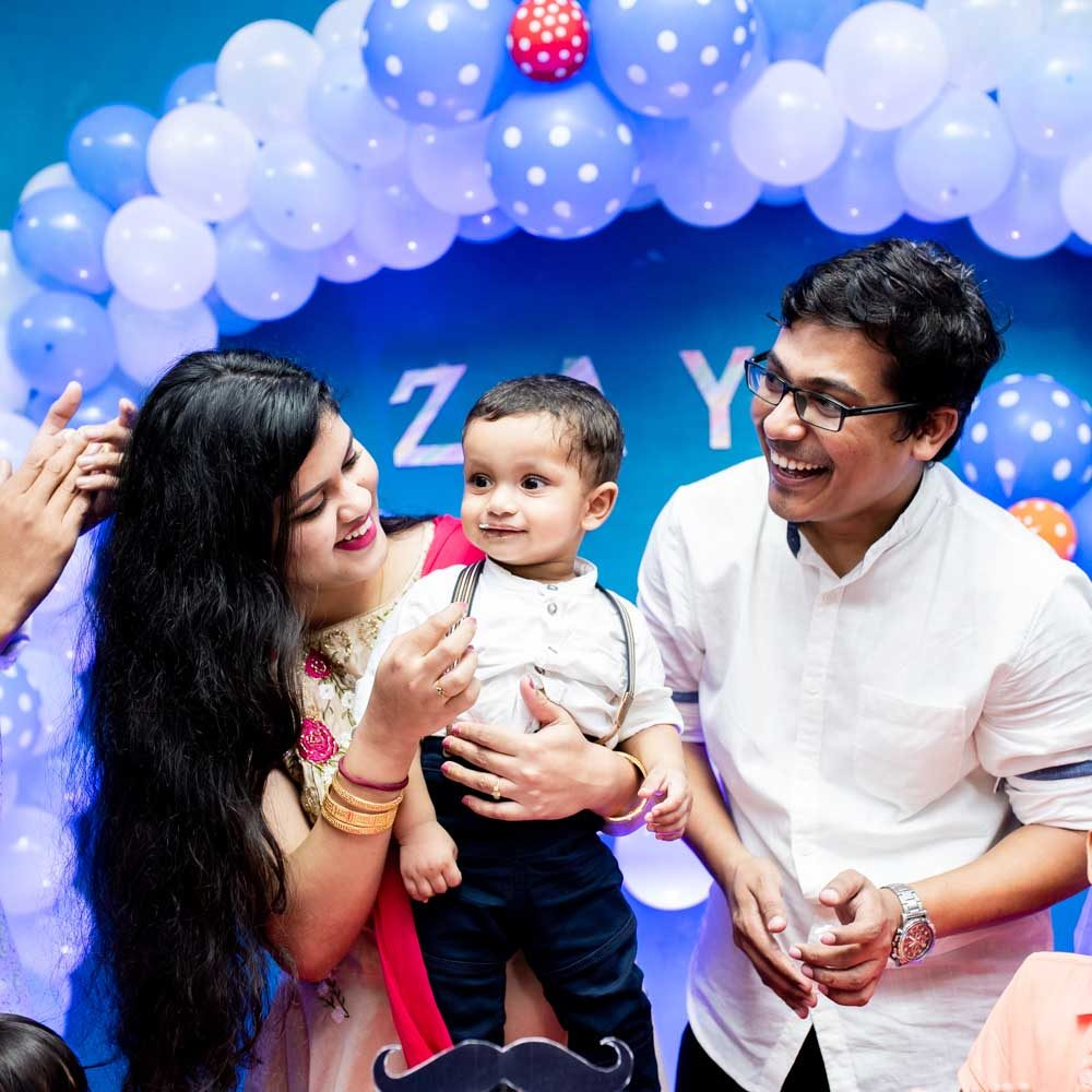 first birthday party photographers in pune