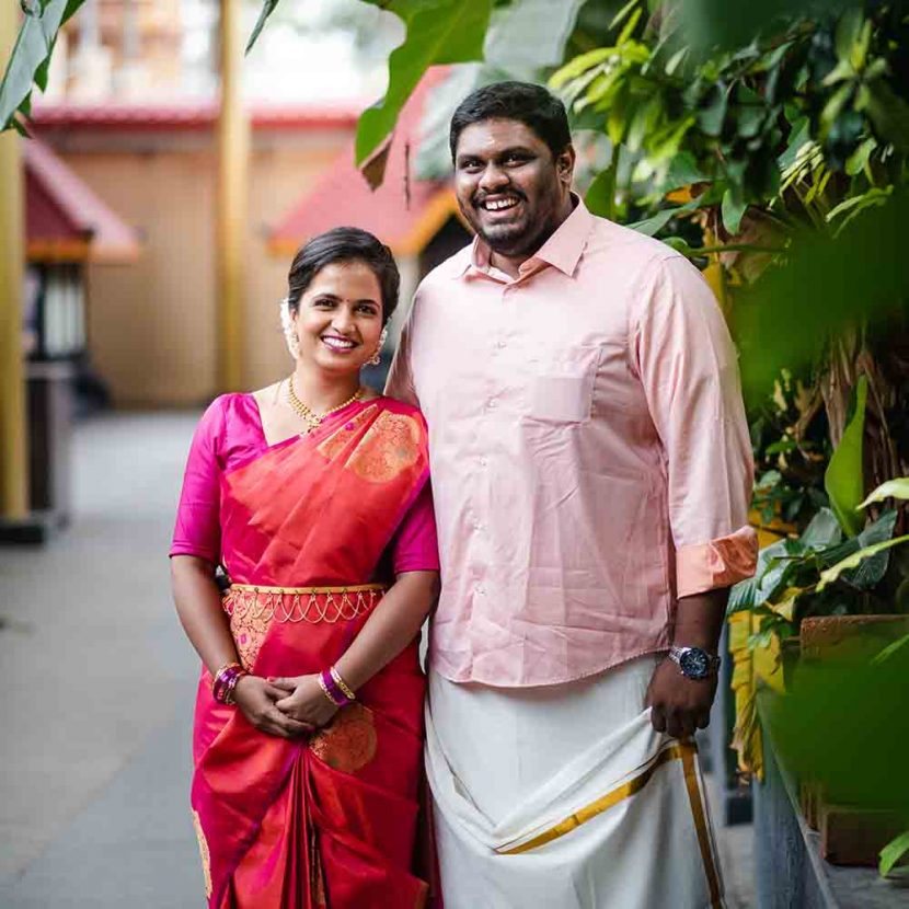 Mahima & Govind's shree krishna temple wedding in Nigdi lockdown wedding