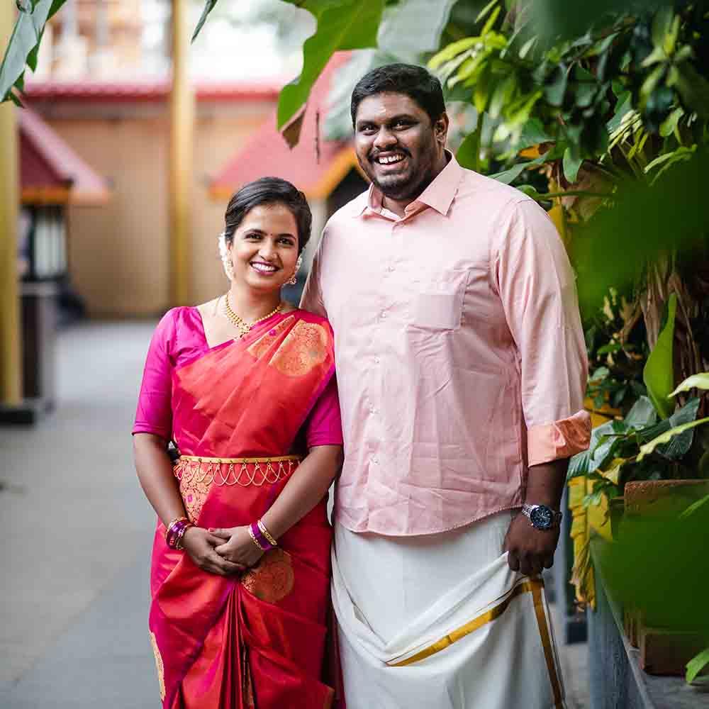 Mahima & Govind's shree krishna temple wedding in Nigdi lockdown wedding