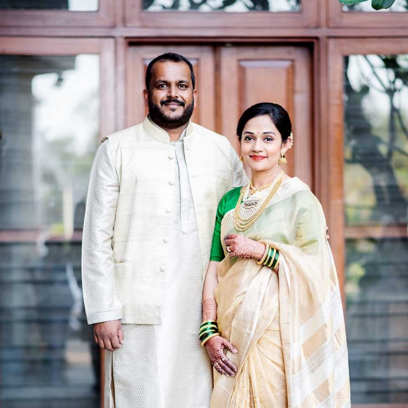 Nishigandha & Keshav's cozy home wedding in Pune among family and friends